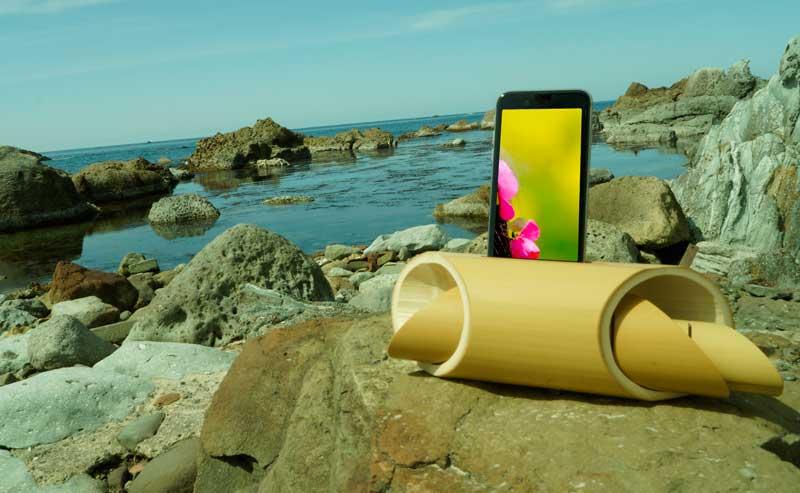 海や山、レジャーで使える竹のスピーカー