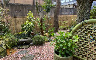 庭を竹垣でアップグレード