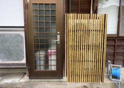 通気性も雰囲気も◎目隠しにも竹垣は素敵です
