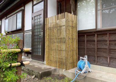矢止垣|通気性も雰囲気も◎目隠しにも竹垣は素敵です