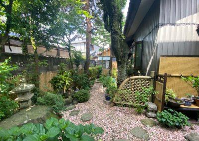 白竹玉袖垣|袖垣|庭に和のアクセント
