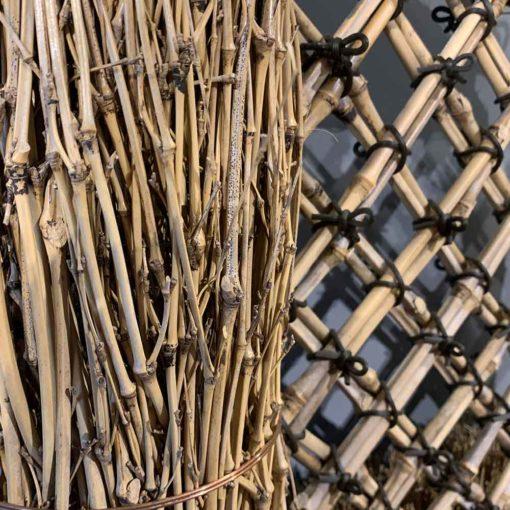 孟宗枝玉袖垣 天然竹ならでは美しさ
