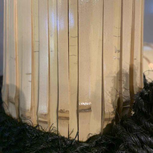 本物の竹を使用した晒竹玉袖垣